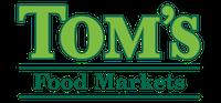 A theme logo of Tom's Food Markets